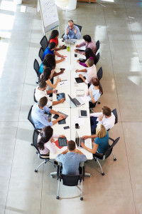 large table business meeting