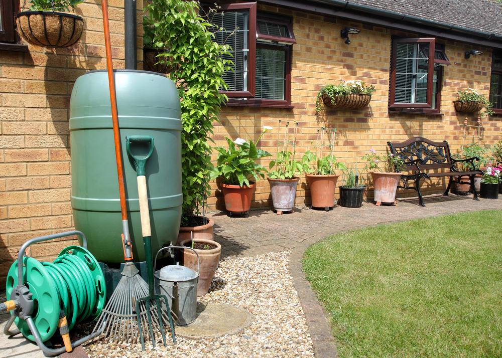 rakes in garden