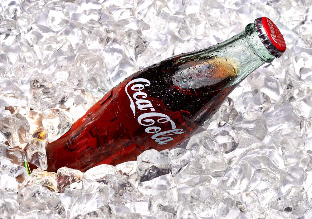 Coca-Cola in ice