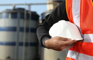 builder holding hat