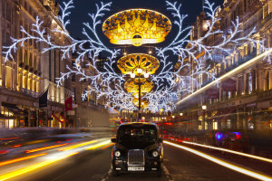 christmas lights in street