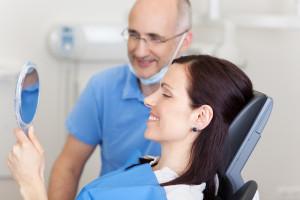 lady at dentist