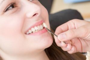 lady at dentists