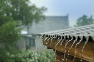 water on roof